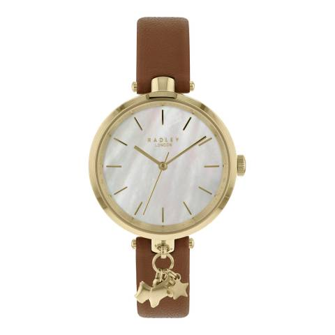 Radley Mother of Pearl Dial & Indus Tan Strap Watch
