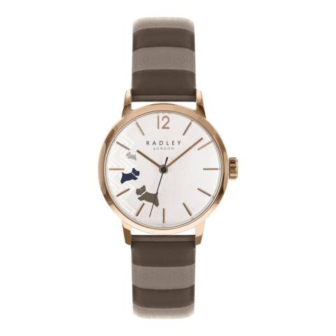 Radley Rose Gold Satin Dial & Mink Strap Watch