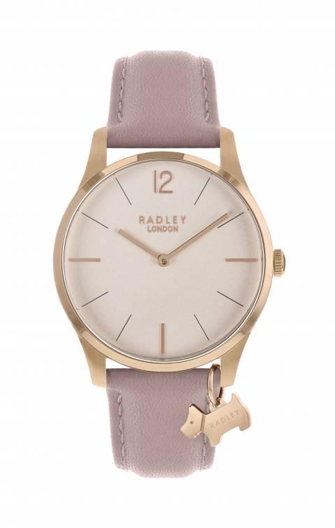 Radley Rose Gold Satin Dial & Cobweb Strap Watch