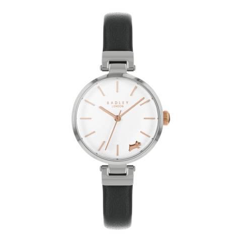 Radley Black T-Bar Leather Silver Watch