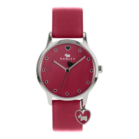 Radley Claret Dial & Strap Silver Watch
