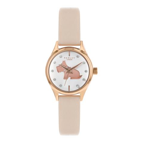 Radley Blush Strap & White Dial Watch