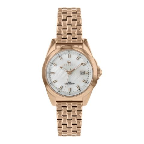 Radley White Mother Of Pearl Dial Rose Gold Bracelet Watch