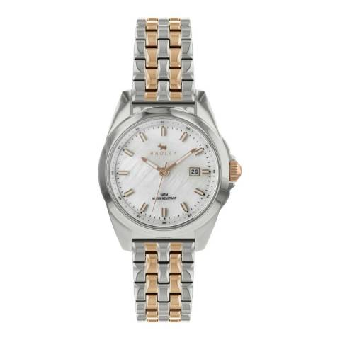Radley White Mother Of Pearl Dial Two-Tone Bracelet Watch