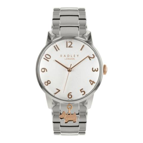 Radley Silver White Satin Dial Stainless-Steel Bracelet Watch