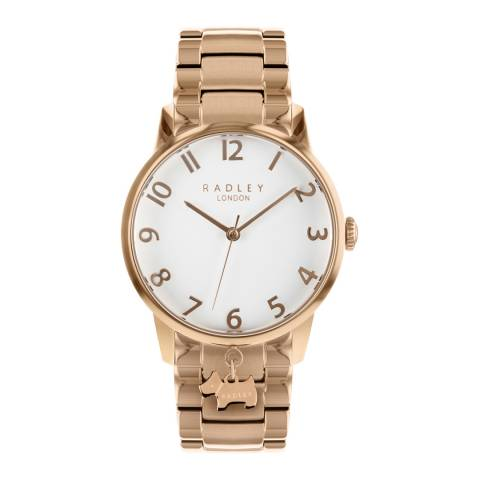Radley White Dial Rose Gold Stainless-Steel Bracelet Watch