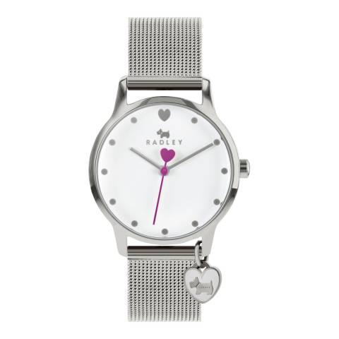 Radley White Dial & Strap Silver Watch