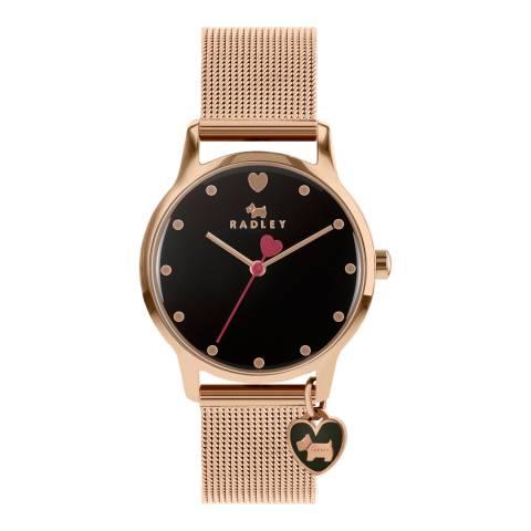 Radley Black Dial & Rose Gold Bracelet Watch