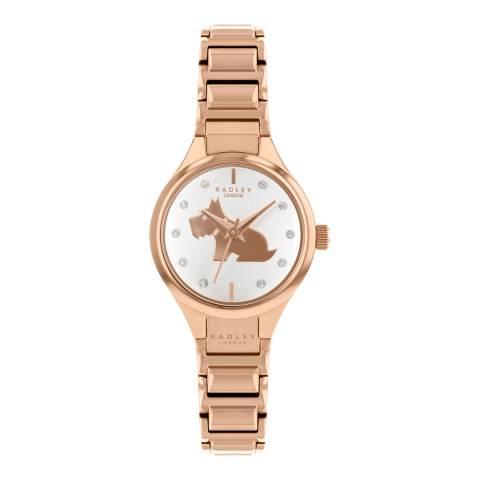 Radley White Dial & Rose Gold Bracelet Watch