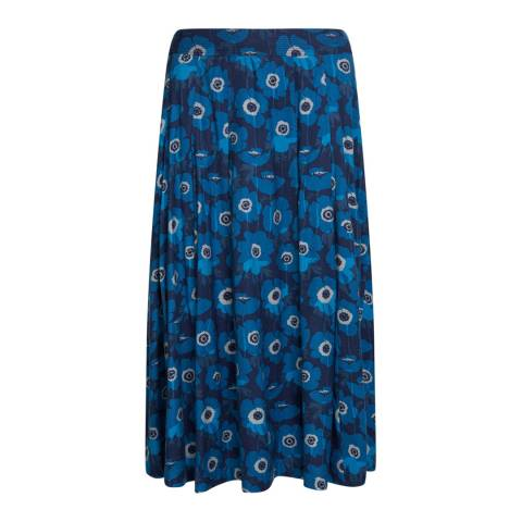 Seasalt Navy Moving Image Skirt