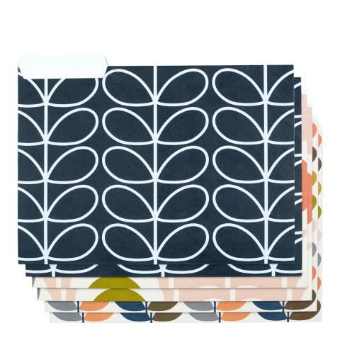 Orla Kiely A4 Card File Folders  Set of 6  Flowers
