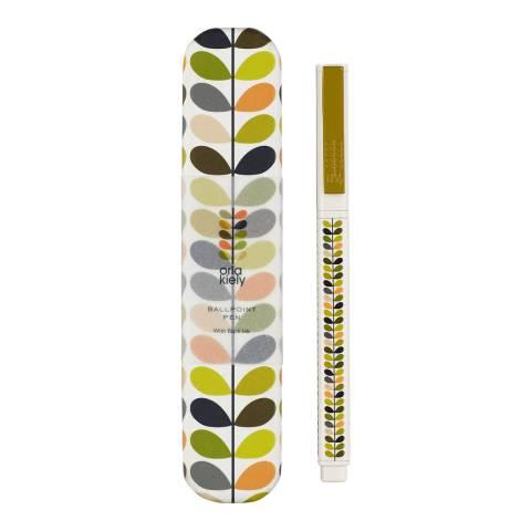 Orla Kiely Metal Ballpoint Pen - Multi Stem