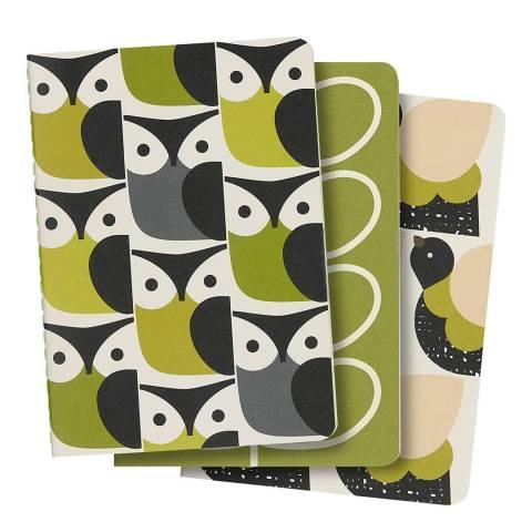 Orla Kiely A6 Mini Notebooks Set of 3 Birds