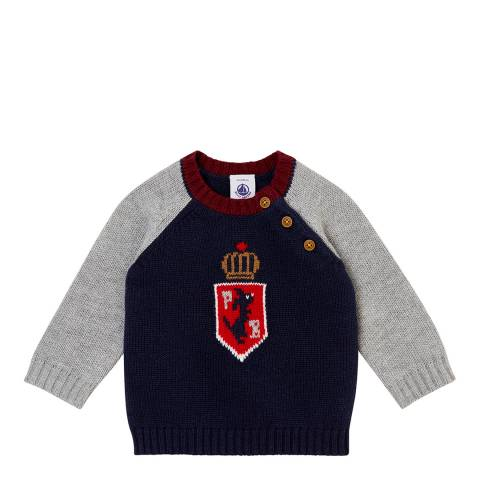 Petit Bateau Navy/Grey Knitted Sweater