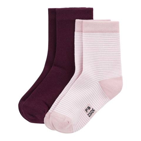 Petit Bateau Coloured/Striped 2 Pairs Of Socks