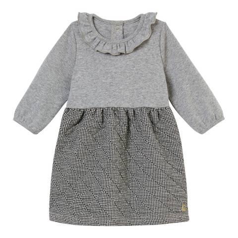 Petit Bateau Grey Dual Fabric Dress