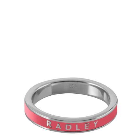 Radley Pink & Silver Hatton Row Ring