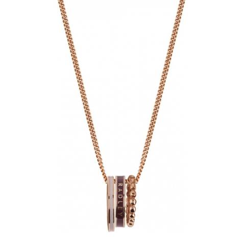 Radley Rose Gold Hatton Row Necklace