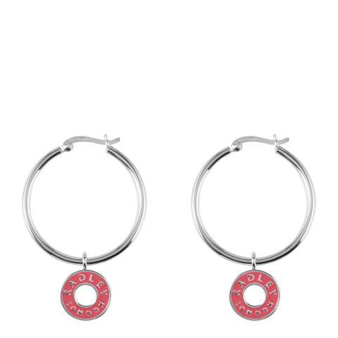 Radley Silver & Pink Esher Street Earrings