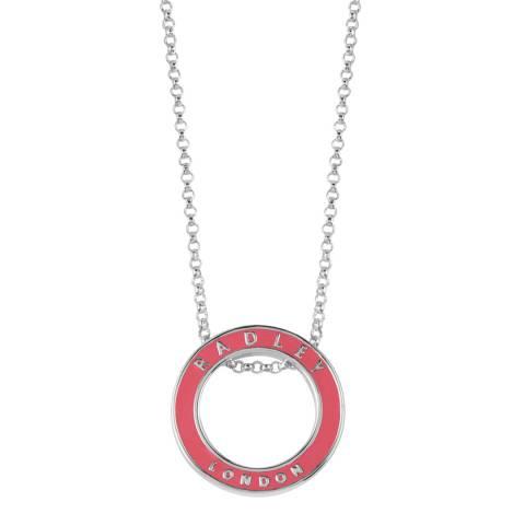 Radley Silver & Pink Esher Street Necklace