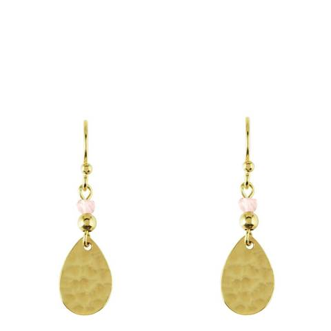 Radley Gold & Pink In A Flutter Earrings