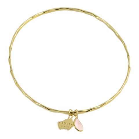 Radley Gold Pink Stone 18ct Yellow Gold
