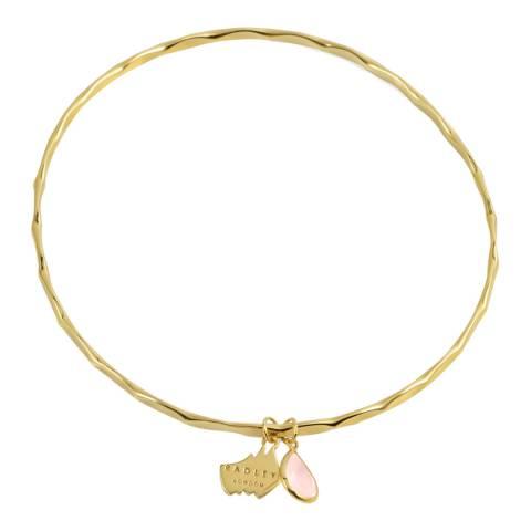 Radley Yellow Gold & Pink In A Flutter Bracelet