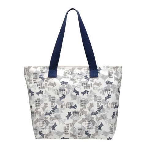 Radley White Large Zip-Top Tote Bag