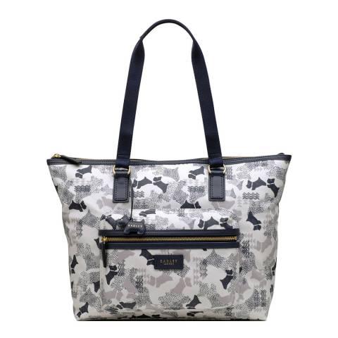 Radley White Large Zip-Top Work Bag