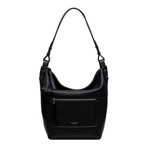Radley Black Large Zip-Top Hobo Bag