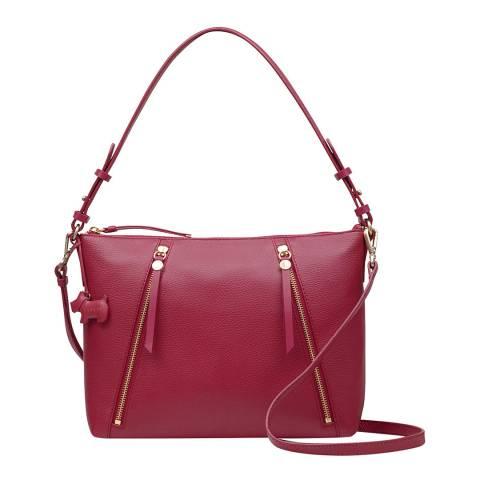 Radley Red Medium Zip-Top Shoulder Bag