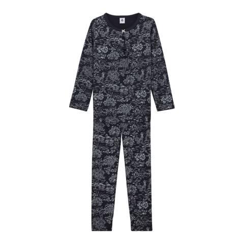 Petit Bateau Girl's Navy Magic Night Pyjamas
