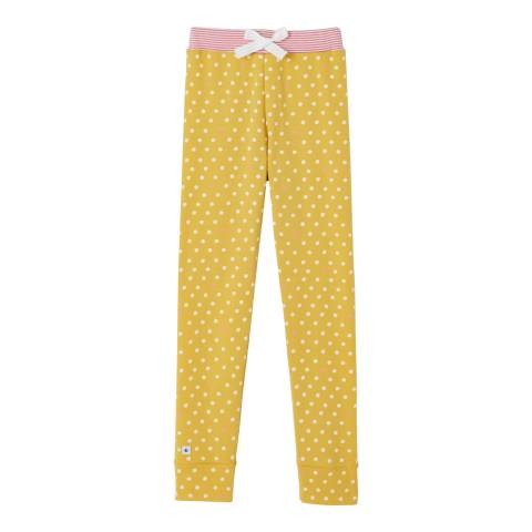 Petit Bateau Girl's Mustard Polka Dot Pyjama Bottoms