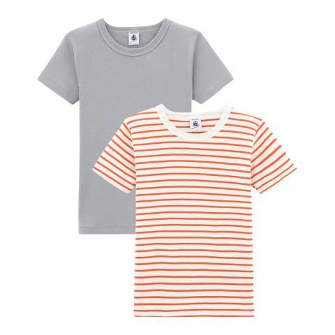 Petit Bateau Boy's Short Sleeved T-Shirt Duo