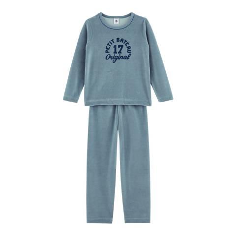 Petit Bateau Boy's Astro Blue Retro Style Pyjamas