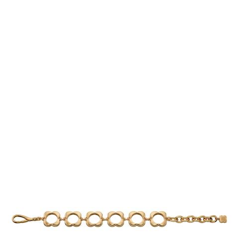 Orla Kiely Yellow Gold Plated Open Flower Bracelet
