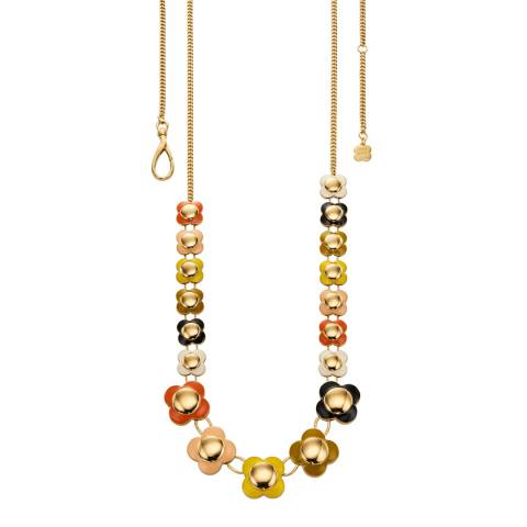 Orla Kiely Multi-Colour Long Flower Necklace