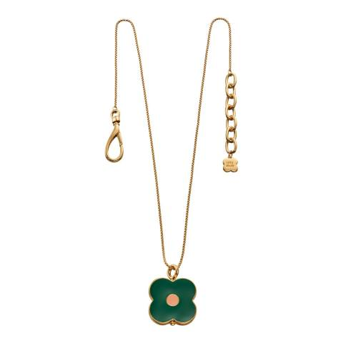 Orla Kiely Yellow Gold Plated Abacus Flower Short Pendant