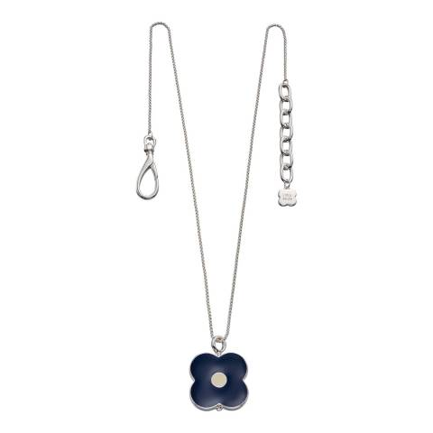 Orla Kiely Silver Plated Abacus Flower Short Pendant