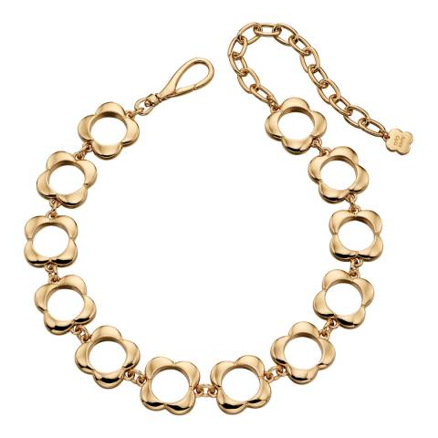 Orla Kiely Yellow Gold Plated Open Flower Choker