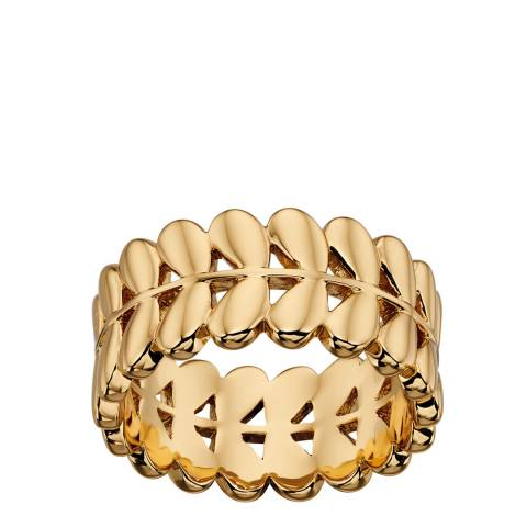 Orla Kiely Yellow Gold Plated Leaf Ring