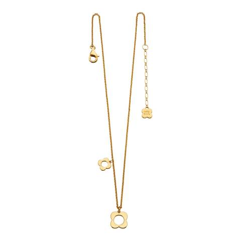 Orla Kiely Yellow Gold Four Point Flower Necklace