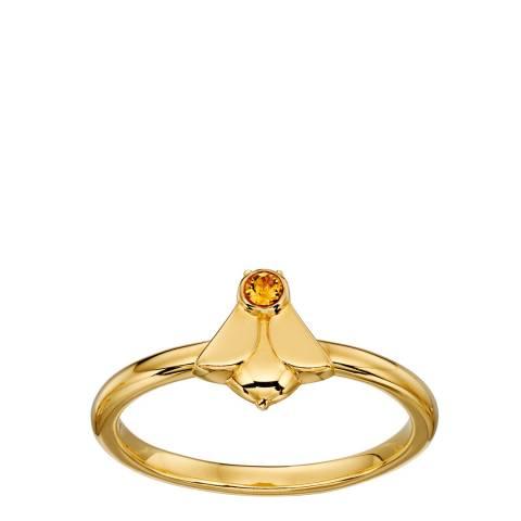 Orla Kiely Swarovski Yellow Gold Plated Bee Ring