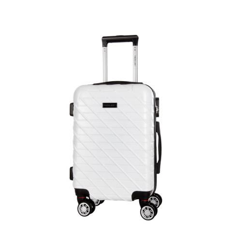 Travel One White Leira Small Suitcase 46cm