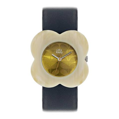 Orla Kiely Navy & Cream Poppy Watch