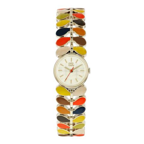 Orla Kiely Multi Coloured Printed Ivy Mesh Watch