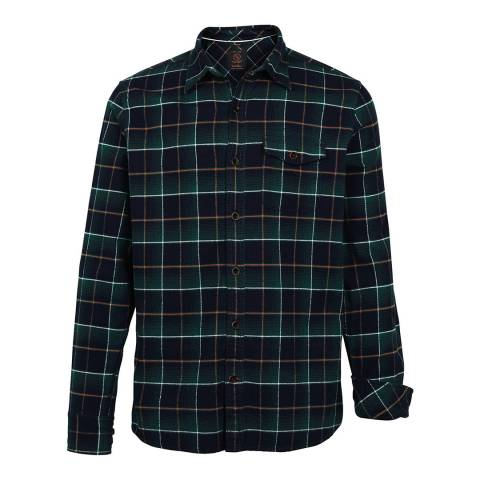 Fat Face Navy Thetford Windowpane Check Shirt
