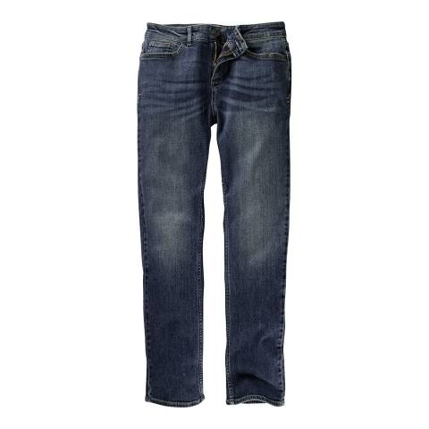 Fat Face Denim Straight Mid Wash Jeans
