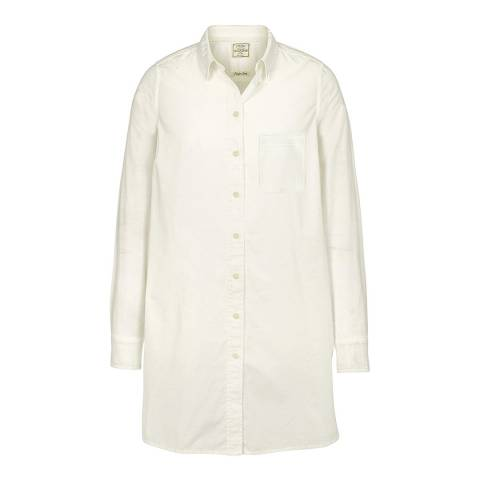 Fat Face White Ottilie Longline Shirt