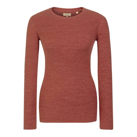 Fat Face Terracotta Sofia Crew Jumper